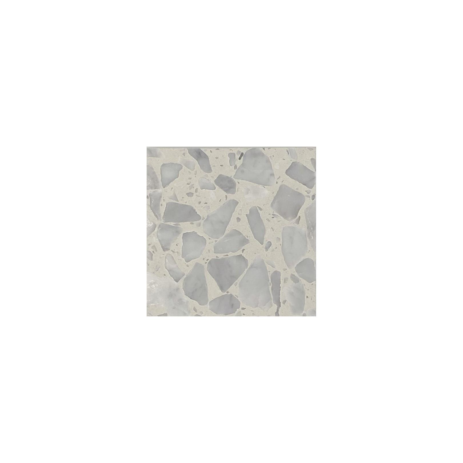 Carreau Terrazzo fond blanc inclusions gris Bianco Neve (3 formats)