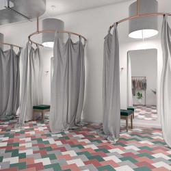 Carrelage grès cérame Elle Floor format L 18,5x18,5cm (8 couleurs)