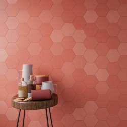 Grès cérame Six Hexa , hexagone 16x14cm effet nuancé léger (6 couleurs)