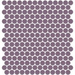 Mosaïque Unicolor hexagone 2,6x2,2cm aubergine 251 mat ou brillant ou antidérapant sur trame nylon 33,2x33,2cm