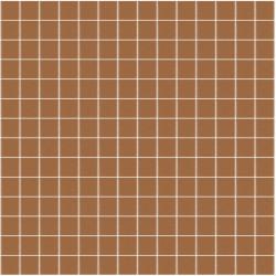 Mosaïque Unicolor 2,3x2,3cm marron clair 212 mat ou brillant ou antidérapant sur trame nylon 33,3x33,3cm