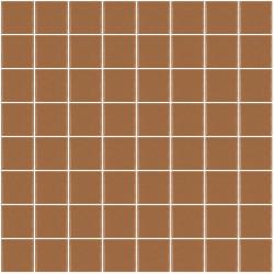 Mosaïque Unicolor carré 3,8x3,8cm 212 marron clair mat ou brillant ou antidérapant sur trame nylon 32x32cm