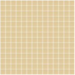 Mosaïque Unicolor 2,3x2,3cm beige 173 mat ou brillant ou antidérapant sur trame nylon 33,3x33,3cm