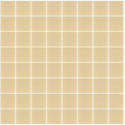 Mosaïque Unicolor carré 3,8x3,8cm 173 beige mat ou brillant ou antidérapant sur trame nylon 32x32cm