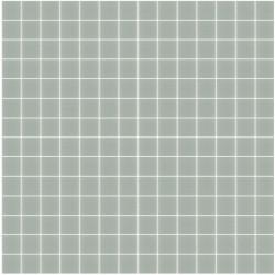 Mosaïque Unicolor 2,3x2,3cm gris 108 mat ou brillant ou antidérapant sur trame nylon 33,3x33,3cm