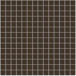 Mosaïque Unicolor 2,3x2,3cm café 163 mat ou brillant ou antidérapant sur trame nylon 33,3x33,3cm