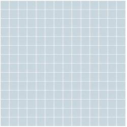 Mosaïque Unicolor 2,3x2,3cm bleu clair 315 mat ou brillant ou antidérapant sur trame nylon 33,3x33,3cm