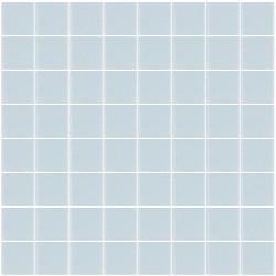 Mosaïque Unicolor carré 3,8x3,8cm 315 bleu clair mat ou brillant ou antidérapant sur trame nylon 32x32cm