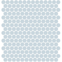 Mosaïque Unicolor ronde diamètre 2,3cm bleu clair 315 mat ou brillant ou antidérapant sur trame nylon 33,3x33,3cm