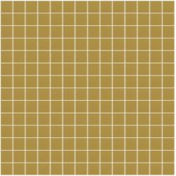 Mosaïque Unicolor 2,3x2,3cm kaki clair 307 mat ou brillant ou antidérapant sur trame nylon 33,3x33,3cm