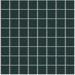 Mosaïque Unicolor carré 3,8x3,8cm 313 bleu nuit mat ou brillant ou antidérapant sur trame nylon 32x32cm