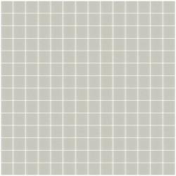 Mosaïque Unicolor 2,3x2,3cm gris chaud 106 mat ou brillant ou antidérapant sur trame nylon 33,3x33,3cm