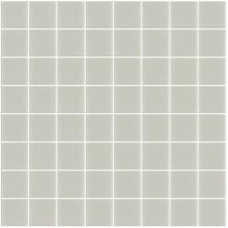 Mosaïque Unicolor carré 3,8x3,8cm gris chaud 106 mat ou brillant ou antidérapant sur trame nylon 32x32cm