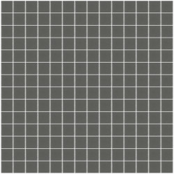 Mosaïque Unicolor 2,3x2,3cm gris foncé 260 mat ou brillant ou antidérapant sur trame nylon 33,3x33,3cm