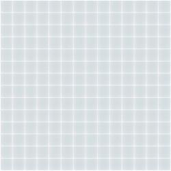 Mosaïque Unicolor 2,3x2,3cm 316 bleu pâle mat ou brillant ou antidérapant sur trame nylon 33,3x33,3cm