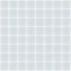 Mosaïque Unicolor carré 3,8x3,8cm bleu pâle 316 mat ou brillant ou antidérapant sur trame nylon 32x32cm
