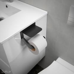 Porte papier toilette mural avec couvercle minimal (2 fintions)