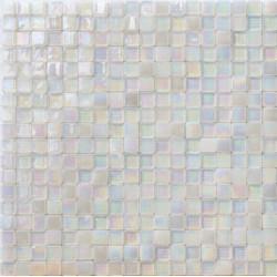 Mosaïque pâte de verre Perle Neve 1,5x1,5cm PE.0H55