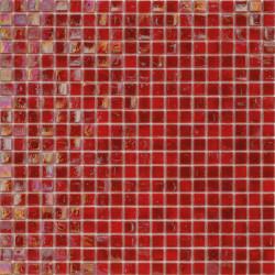 Mosaïque pâte de verre Perle Rosso 1,5x1,5cm PE.0H60
