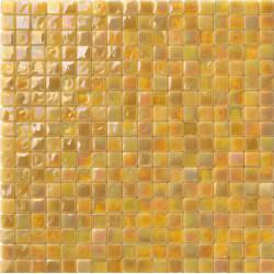 Mosaïque pâte de verre Perle Senape 1,5x1,5cm PE.0H61