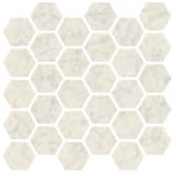 Carrelage grès cérame effet marbre Marmorea Bianco Gioa (9 formats, 2 finitions)
