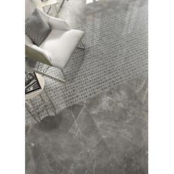 Carrelage grès cérame effet marbre Marmorea Grigio Imperial (9 formats, 2 finitions)