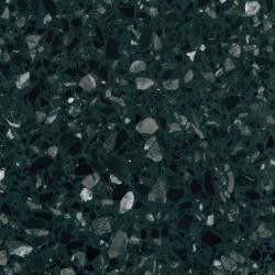 Carreau Terrazzo fond vert foncé inclusions multicolores Millenium (6 formats)
