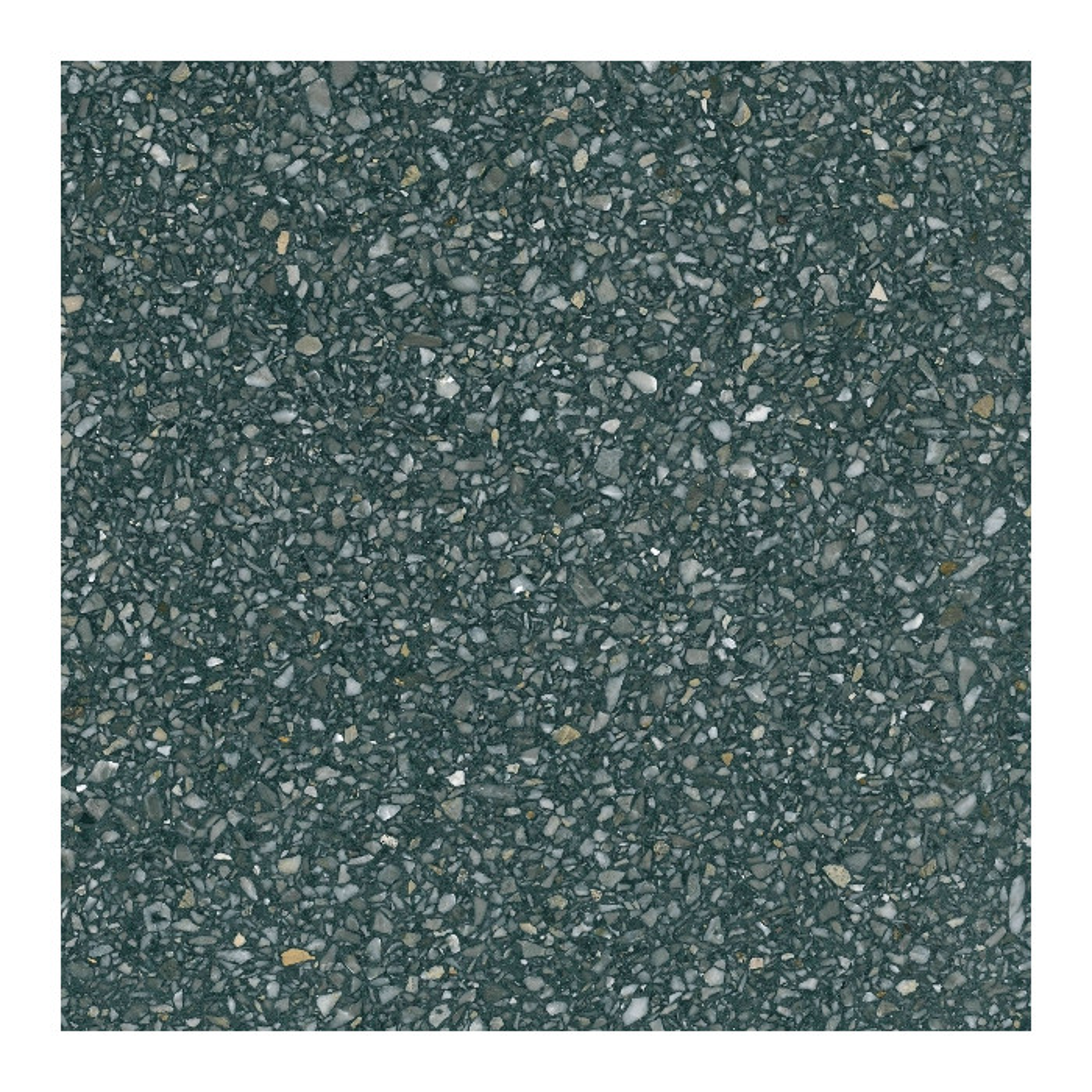 Carreau Terrazzo fond gris foncé inclusions Multicolores Gribel (6 formats)