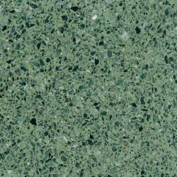 Carreau Terrazzo fond vert inclusions vert Verde Alpi (6 formats)