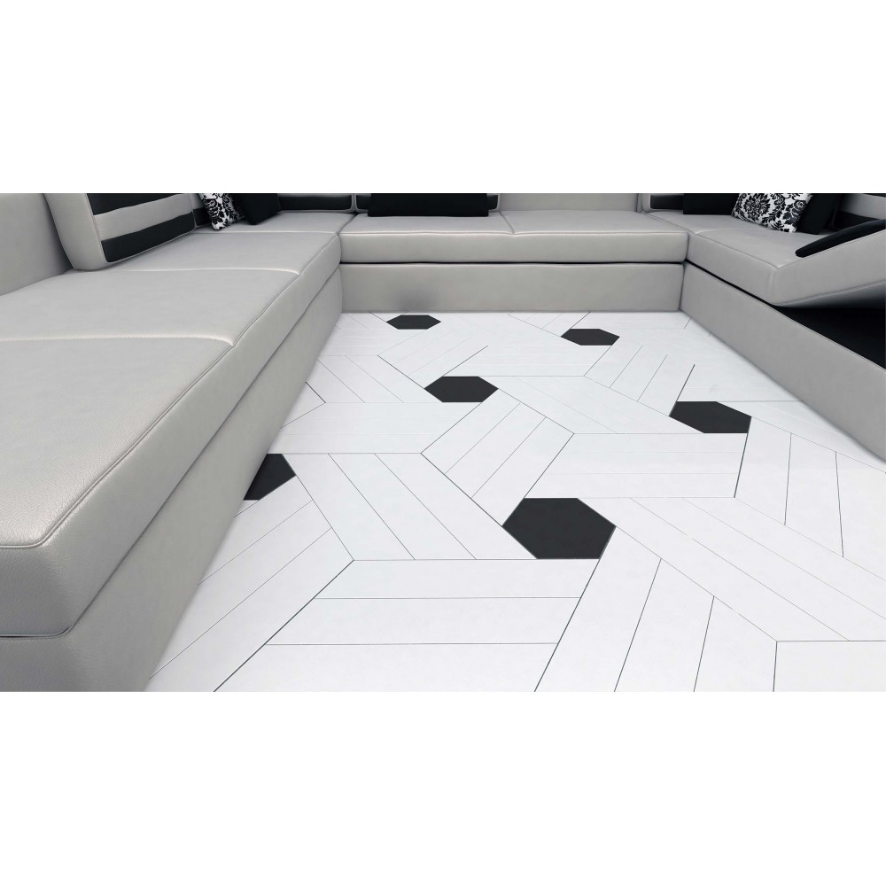 carrelage gr s c rame hexagone floor effet graphique 3 couleurs casalux home design. Black Bedroom Furniture Sets. Home Design Ideas