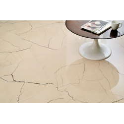 Carrelage grès cérame effet marbre Sound of marbles Beige Antico (10 formats, 2 finitions)