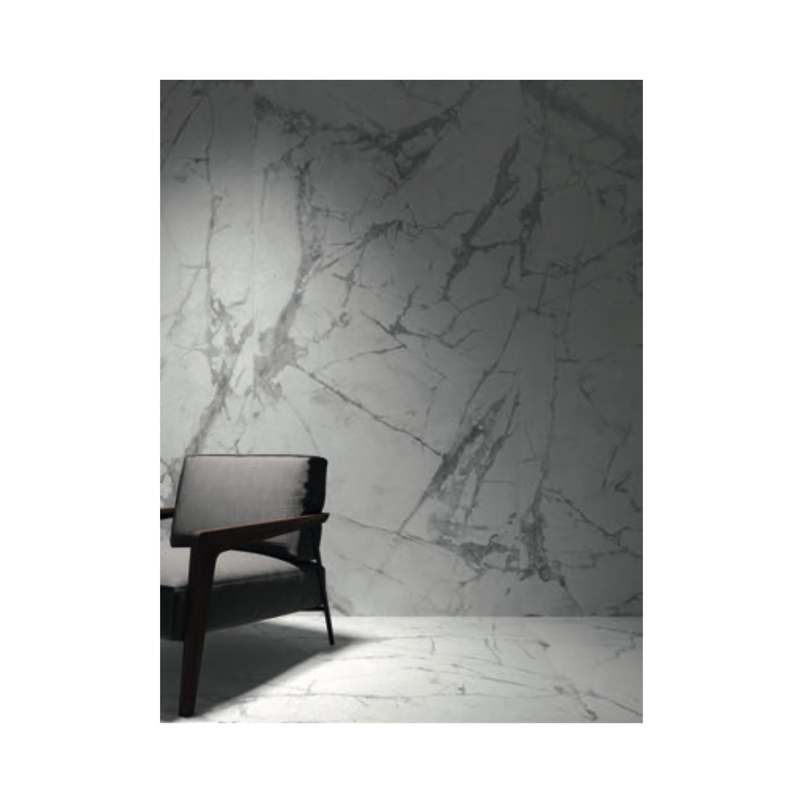 Carrelage grès cérame effet marbre blanc Invisible (13 formats)