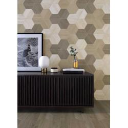 Carrelage grès cérame 60° Tapezium Wood effet bois (3 couleurs)