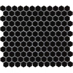 Mosaïque de porcelaine hexagone 2,6x2,3 Barcelona Black briillant