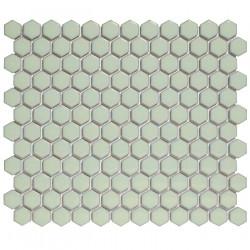 Mosaïque de porcelaine hexagone 2,6x2,3 Barcelona Light Green briillant
