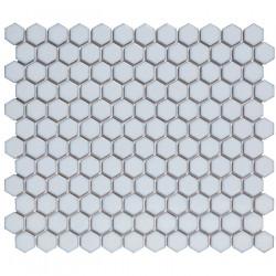 Mosaïque de porcelaine hexagone 2,6x2,3 Barcelona Soft Blue briillant
