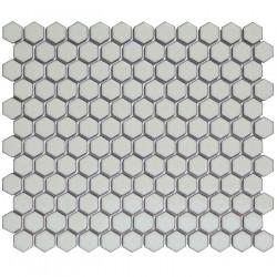 Mosaïque de porcelaine hexagone 2,6x2,3 Barcelona Soft Grey briillant