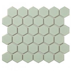 Mosaïque de porcelaine hexagone 5,9x5,1cm Barcelona Light Green briillant