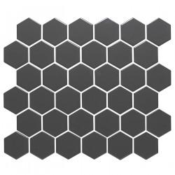 Mosaïque de porcelaine hexagone 5,9x5,1cm Barcelona Grey briillant