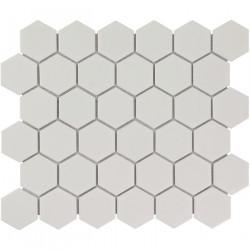 Mosaïque de porcelaine hexagone 5,9x5,1cm Barcelona White briillant