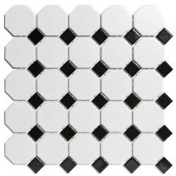 Mosaïque de porcelaine hexagone 11x9,5cm Barcelona Black mat