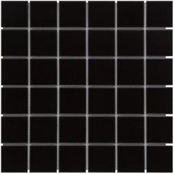 Mosaïque de grès cérame Barcelona 4,8x4,8cm Black mat