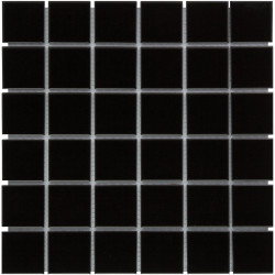 Mosaïque de grès cérame Barcelona 4,8x4,8cm Black brillant