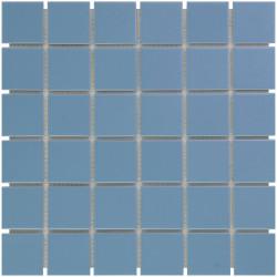 Mosaïque de grès cérame Barcelona 4,8x4,8cm Blue brillant