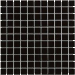Mosaïque de grès cérame Barcelona 2,3x2,3cm Black brillant