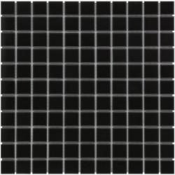 Mosaïque de grès cérame Barcelona 2,3x2,3cm Black mat