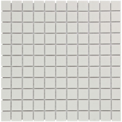 Mosaïque de grès cérame Barcelona 2,3x2,3cm White mat