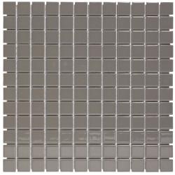 Mosaïque de grès cérame Barcelona 2,3x2,3cm Grey Brillant