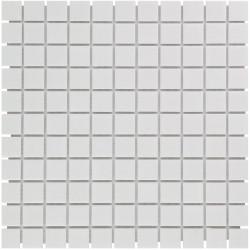 Mosaïque de grès cérame Barcelona 2,3x2,3cm Extra White brillant