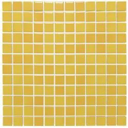 Mosaïque de grès cérame Barcelona 2,3x2,3cm Yellow Brillant